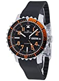 Fortis Herren-Armbanduhr Aquatis Marinemaster Day/Date Orange Datum Wochentag Analog Automatik 670.19.49 K