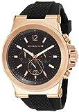 Michael Kors Herren Chronograph Quarz Uhr mit Silikon Armband MK8184