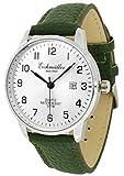 Eichmüller Armbanduhr Lederband grün Herrenuhr Analog Quarz 3ATM Datum