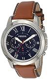 Fossil Herren Chronograph Quarz Uhr mit Leder Armband FS5210