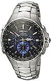 Seiko Coutura Funk-Solar Uhr aus Edelstahl, Herrenuhr SSG009