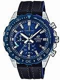 Casio Edifice Herren Chronograph Quarz Armbanduhr EFR-566, Blau