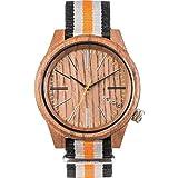 Wewood Herren Analog Quarz Smart Watch Armbanduhr mit Nylon Armband WW50002