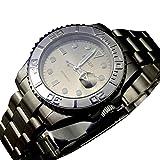 TikcwatchBliger Mechanisches Uhrwerk, Saphirglas, graues Zifferblatt, tauchfähig, für Herren, mechanisch, Automatikuhr, 41 mm