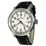 Revue Thommen Herren-Armbanduhr XL Analog Automatik Leder 16053.2533