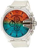 Diesel Herren Chronograph Quarz Uhr mit Polyurethan Armband DZ4515