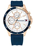 Tommy Hilfiger Herren Analoger Quarz Uhr mit Silikon Armband 1791778