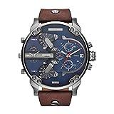 Diesel Herren Analog Quarz Uhr mit Leder Armband DZ7314