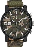 Oozoo Herrenuhr mit Lederband 50 MM Black/Camouflage/Camouflage C10066