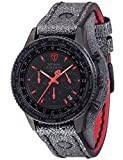 Detomaso Herren Chronograph Quarz Uhr mit Edelstahl Armband DT1073-A