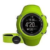 Suunto Unisex Ambit3 GPS-Uhr zum Laufen, 15 Std. Akkulaufzeit, Herzfrequenzmesser + Brustgurt, Wasserdicht bis 50 m, limette, SS021261000