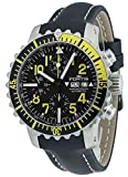 Fortis Herren-Armbanduhr Aquatis Marinemaster Gelb Chronograph Datum Wochentag Analog Automatik 671.24.14 L.01
