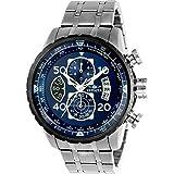 Invicta 22970 Herren-Armbanduhr Aviator blaues Zifferblatt Stahlarmband Chronograph Kompass mit SYB
