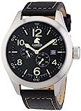 Carucci Watches Herren-Armbanduhr XL Analog Automatik Leder CA2202BK