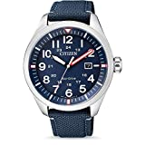 Citizen Herren Analog Quarz Uhr mit Nylon Armband AW5000-16L