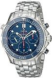 Omega Seamaster Taucher-Chronograph, blaues Zifferblatt, Stahl, 21230425003001