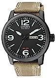 Citizen Herren Analog Quarz Uhr mit Nylon Armband BM8476-23EE