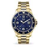 Ice-Watch - ICE steel Gold blue - Gold Herrenuhr mit Metallarmband - 016762 (Large)