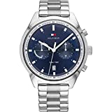 Tommy Hilfiger Herren Analoger Quarz Uhr mit Edelstahl Armband 1791725
