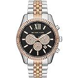 Michael Kors Herren Chronograph Quarz Uhr mit Edelstahl Armband MK8714