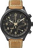 Timex Herren-Armbanduhr XL T-Series Fly-Back Chronograph Analog LederT2N700D7
