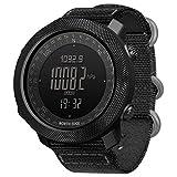 Explopur SPORTUHR - Digitale Sportuhr Für Herren Mit Höhenmesser-Barometer Kompass World Time 50M wasserdichte Pedometer-Armbanduhr