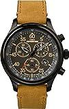 Timex Herren Analog Quarz Uhr mit Leder Armband TW4B12300