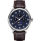 Junkers Tante JU Analog Quarz Uhr Mondphase Saphirglas blau 9.33.01.01