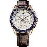 Tommy Hilfiger Herren Analog Quarz Uhr mit Leder Armband 1791118