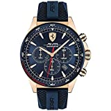 Scuderia Ferrari Herren Chronograph Quarz Armbanduhr mit Silikonarmband 830621