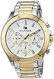 Tommy Hilfiger Herren Multi Zifferblatt Quarz Armbanduhr mit Edelstahlarmband 1791226
