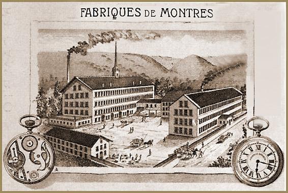 Eterna Uhren- und Rohwerke Fabrik um 1885