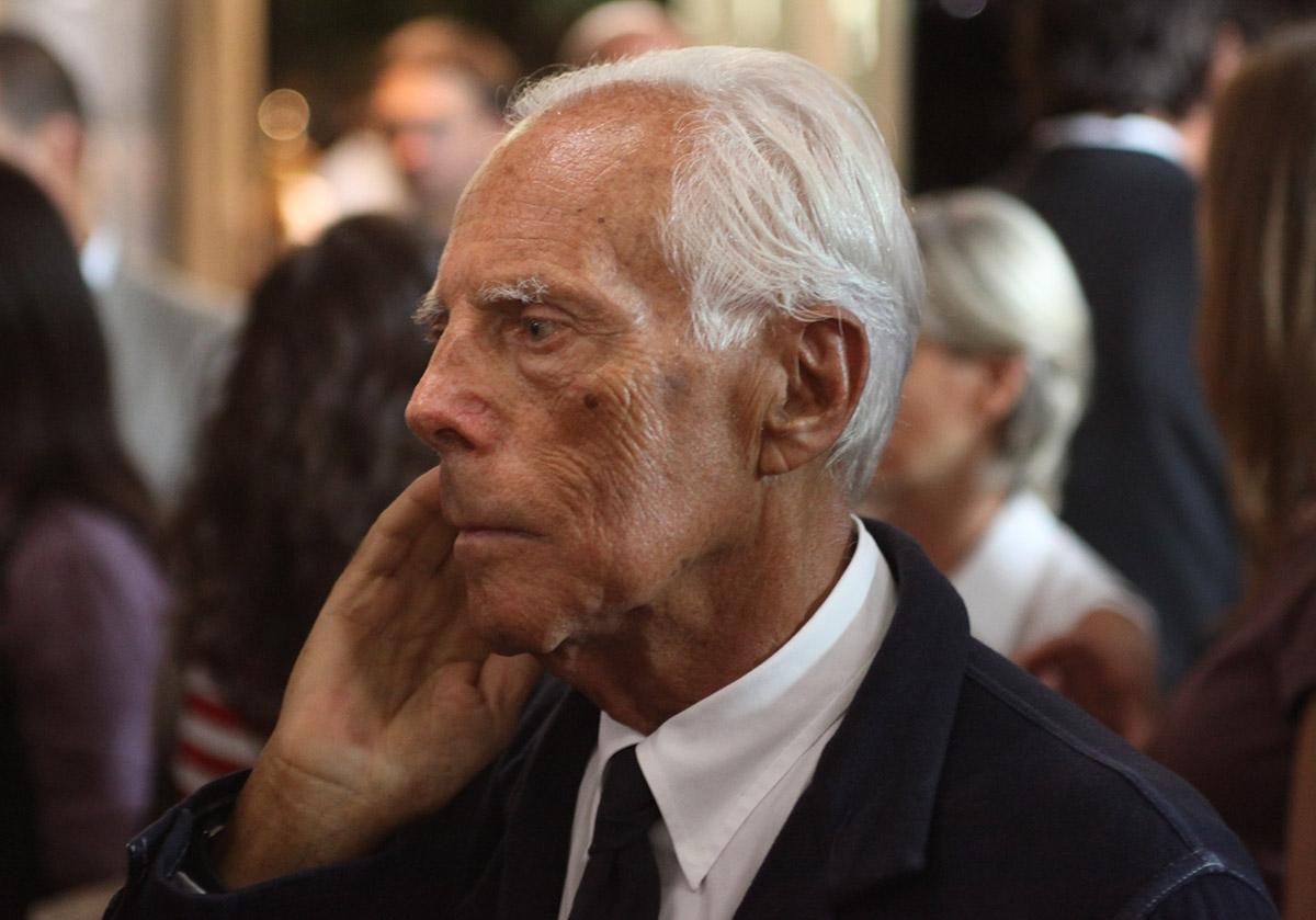 Modedesigner Giorgio Armani 2009