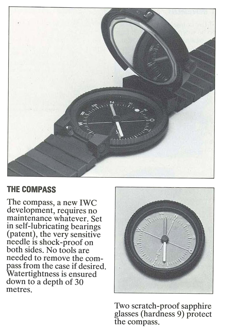Katalog mit der IWC Kompass-Uhr by Porsche Design - Referenz 3510