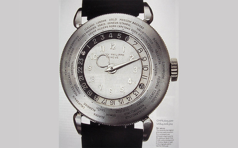 Patek Philippe 1939 Platinum World Time
