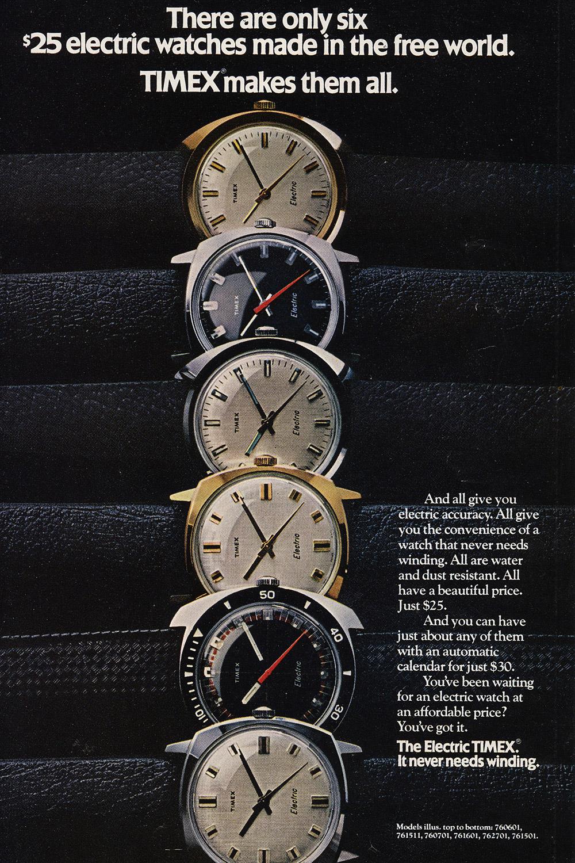 Timex Werbung in der Zeitschrift National Geographic um 1970