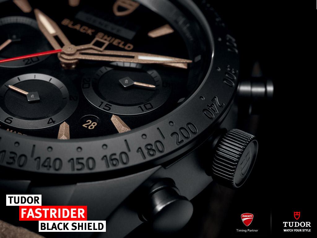 Tudor Fastrider Black Shield Chronograph in Beige