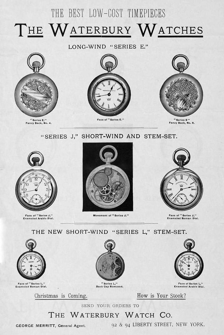 Waterbury Watch Company Taschenuhren
