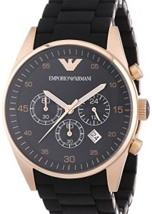 Sportlicher Herren-Chronograph mit schwarzem Keramik-Armband und Roségold-Beschichtung