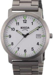 Einfach Herrenuhr mit drei Zeigern - Boccia Titanium Herren-Armbanduhr Titan 3545-01