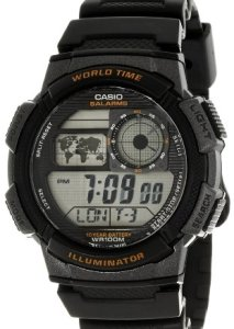 Casio Illuminatur AE-1000W-1AVEF Herren-Digitaluhr mit Weltzeitfunktion und Kalendar