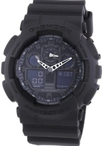 Casio G-Shock GA-100-1A1ER XXL Herren-Armbanduhr in Schwarz mit analoger Zeitanzeige und Saphirglas