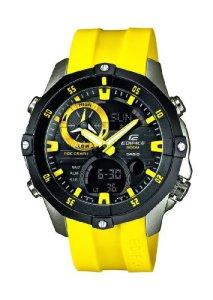 Sportuhr Casio EMA-100B-1A9VUEF mit XL Edelstahl-Gehäuse und gelben Kautschukarmband für Herren