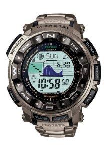 Casio Pro Trek Herren-Armbanduhr Digitaluhr mit Titangehäuse (Casio PRW-2500T-7ER)