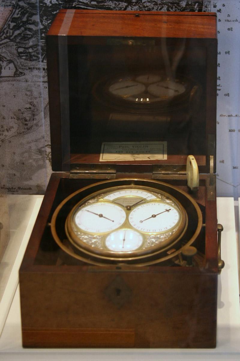 Marinechronometer von 1796 aus Holz