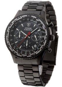 Komplett schwarze Herrenarmbanduhr Detomaso SM1624C-BK Firenze