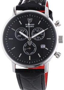 Männertraum Chronograph Detomaso Milano DT1052-A in Schwarz und Silber