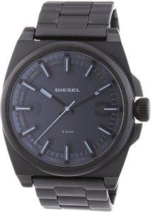 XL-Armbanduhr Diesel DZ1616 komplett in Schwarz mit breitem Edelstahlarmband und Leuchtzeigern