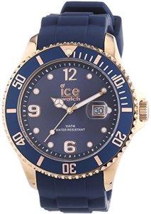 Eleganter Herren-Chronograph Oxford-Blue mit roségoldenem Gehäuse und blauem Zifferblatt