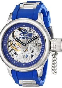 Maskuline Herren-Armbanduhr Invicta Russian Diver 1089 mit 52 Gehäuse und skelettiertem Uhrwerk